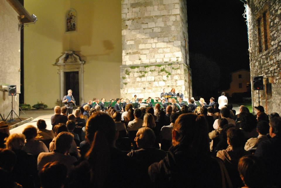 La Filarmonica Leonardo Linda durante il Concerto del Perdon
