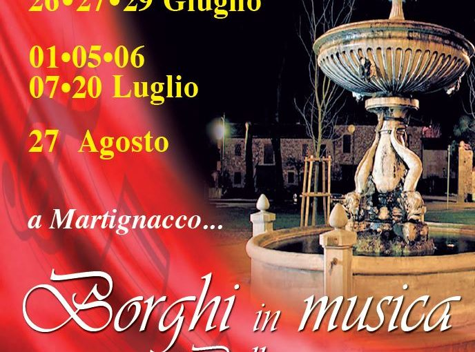 Concerti a Martignacco – Estate 2017