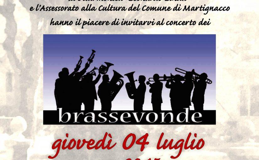 Concerto dei Brassevonde – 4 luglio 2019